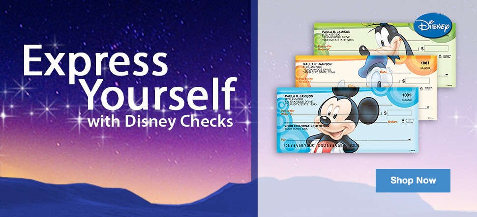 Express Yourself with Disney Checks - Shop Now
