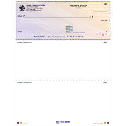 High Security Laser Voucher Check on Top - Purple Safety